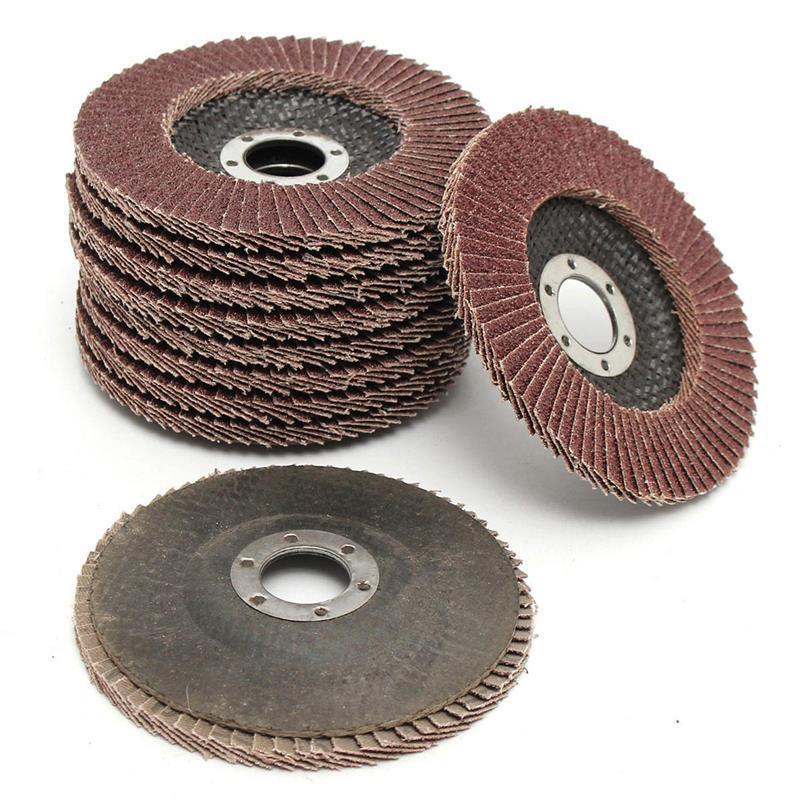 10pcs-angle-grinder-wheels-zirconium-oxide-115mm-flap-sanding-discs-bore-40-grit-22mm-hole-size-abrasive-tools