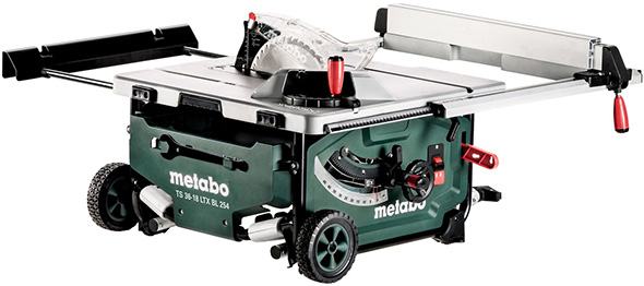 Metabo-Cordless-Table-Saw-with-Roller-Stand-Collapsed
